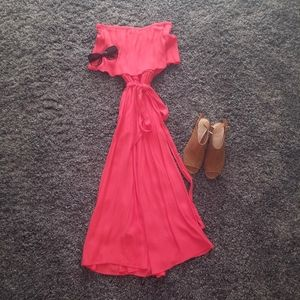 Super cute coral summer dress
